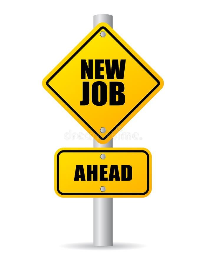 Nuevo Job Road Sign stock de ilustración