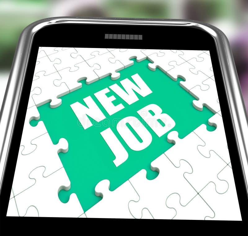 Nuevo Job Smartphone Shows Changing Jobs o empleo libre illustration