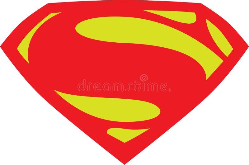 Nuevo logotipo del superhombre stock de ilustración