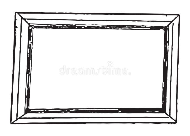 Nuevo marco simple para las imágenes stock de ilustración