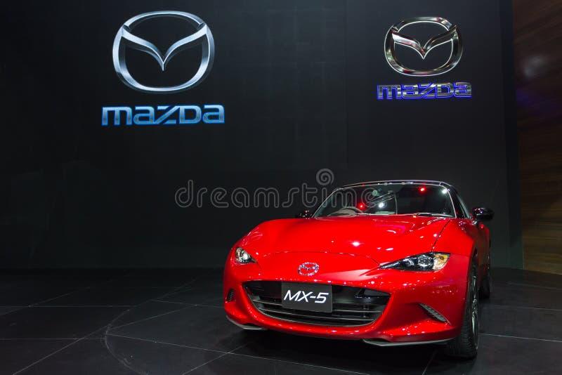 Nuevo Mazda rojo MX-5 fotografía de archivo libre de regalías