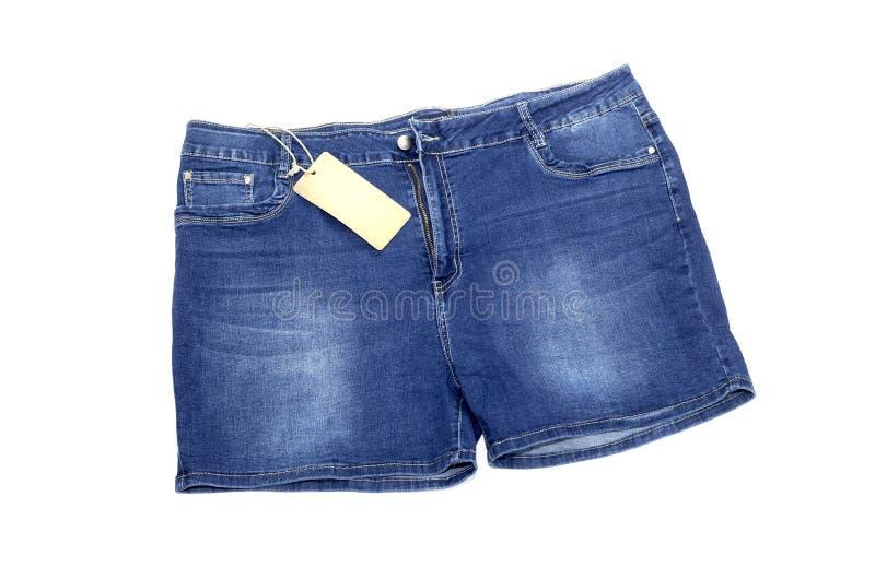 Nuevo, mujeres, primer de los pantalones cortos del dril de algodón foto de archivo