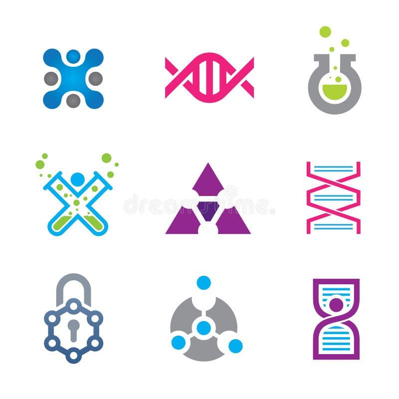 Nuevo mundo de la tecnología del filo en plantilla del logotipo de la ciencia ilustración del vector