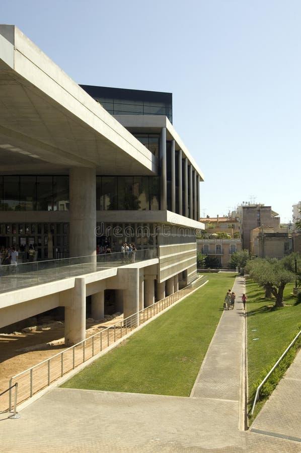 Nuevo museo de la acrópolis en Atenas fotografía de archivo libre de regalías