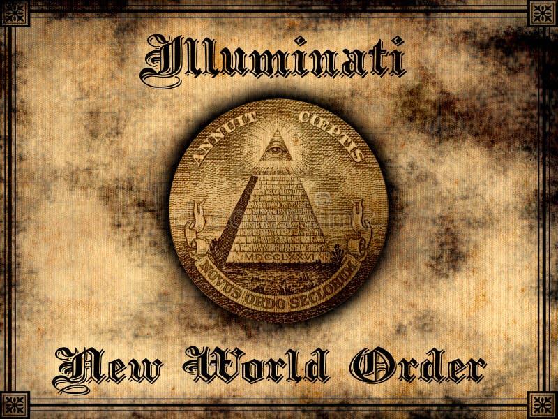Nuevo orden mundial de Illuminati ilustración del vector