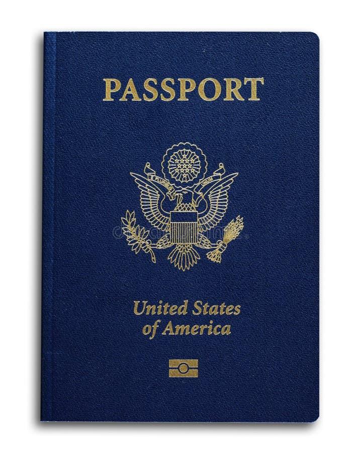 Nuevo pasaporte de los E.E.U.U. fotos de archivo