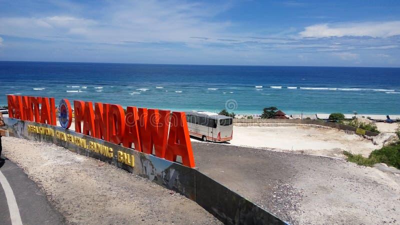 Nuevo playa-Bali secreto foto de archivo libre de regalías
