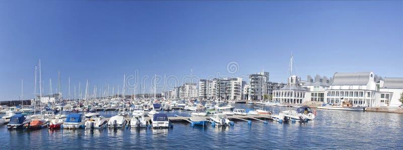 Nuevo puerto deportivo en Helsingborg, Suecia fotos de archivo libres de regalías