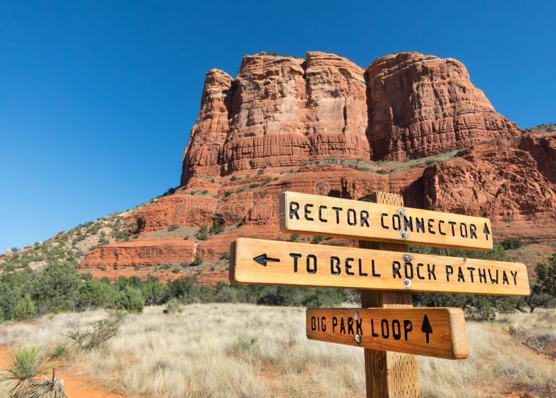 Nuevo rastro, rector Connector cerca de Sedona, Arizona fotografía de archivo
