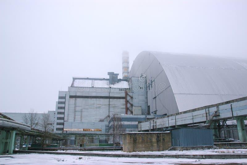 nuevo refugio del reactor en Chernóbil, Ucrania imagen de archivo