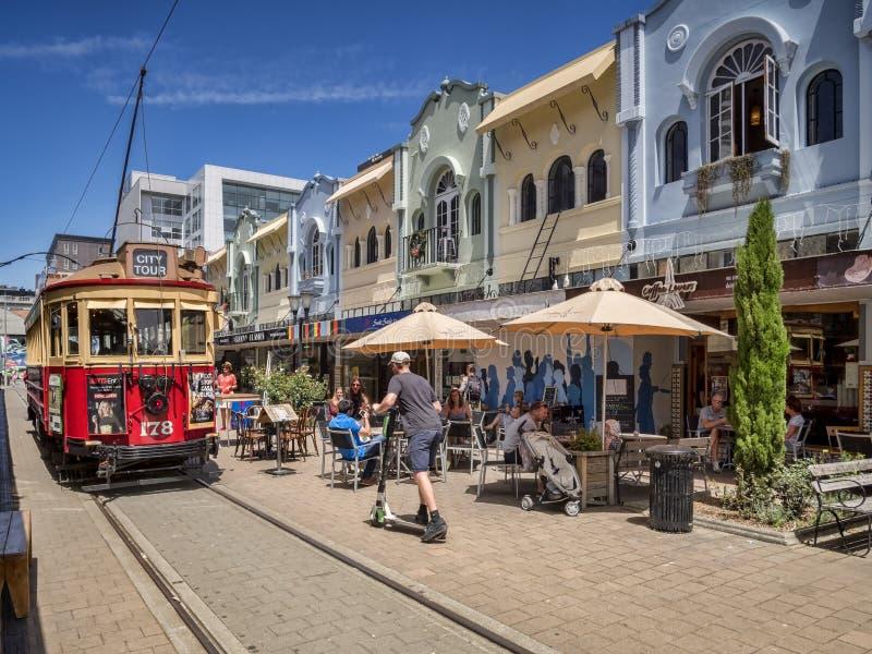 Nuevo Regent Street, Christchurch, Nueva Zelanda imágenes de archivo libres de regalías