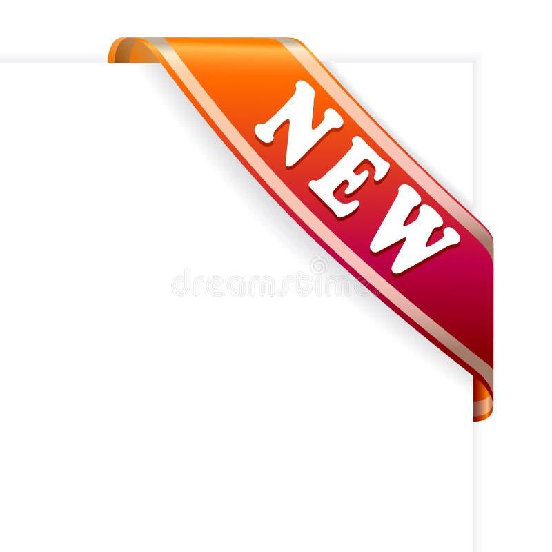Nuevo ribbon3 ilustración del vector