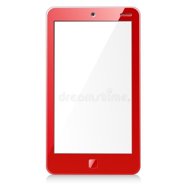 Nuevo smartphone rojo ilustración del vector