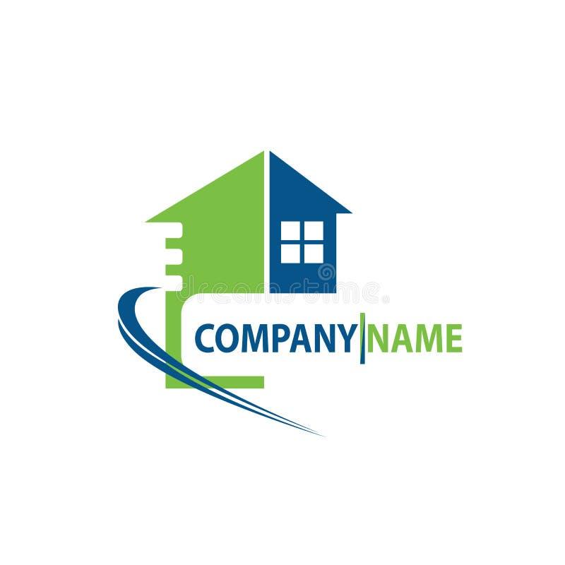 Nuevo vector casero moderno del diseño del icono del elemento del vector del logotipo de la casa abstracta de las propiedades inm stock de ilustración