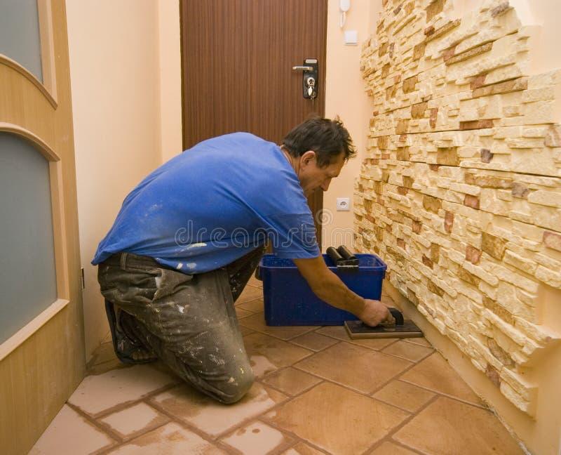 Nuevos azulejos de suelo. imagenes de archivo