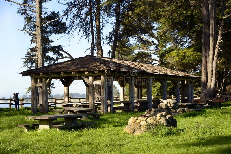 Nuevos Brighton State Beach y camping, Capitola, California fotografía de archivo libre de regalías