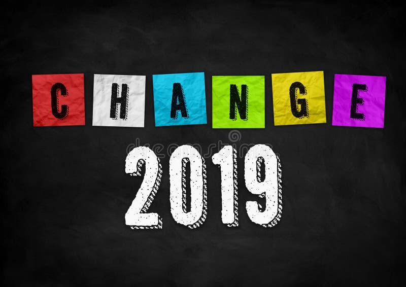 Nuevos cambios en 2019 fotos de archivo libres de regalías