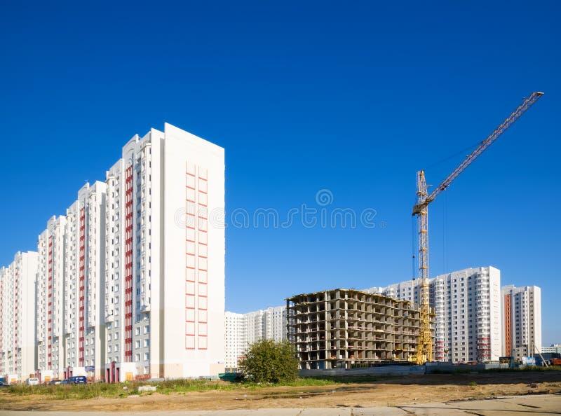 Nuevos edificios imagenes de archivo
