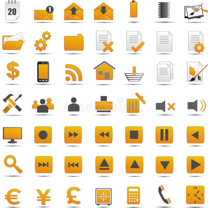 Nuevos iconos del web ilustración del vector