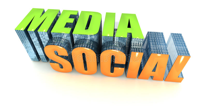 Nuevos media en línea stock de ilustración
