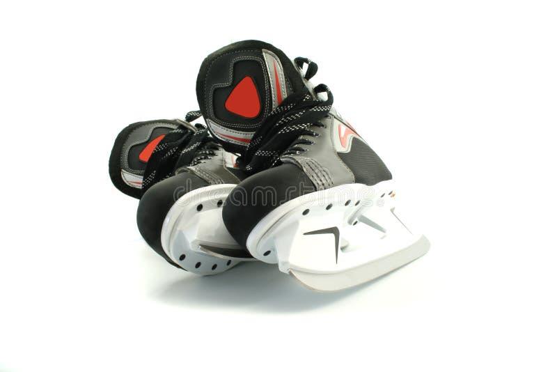 Nuevos patines aislados en blanco foto de archivo libre de regalías