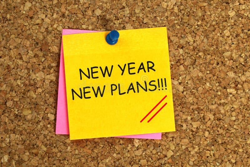 Nuevos planes del Año Nuevo pegajosos stock de ilustración