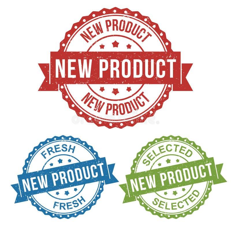 Nuevos producto, fresco, seleccionados, etiqueta del sello de la etiqueta de la insignia del vector para el producto, comercializ libre illustration