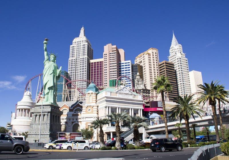 Nuevos York-nuevos hotel y casino de York en la tira en Las Vegas fotos de archivo libres de regalías