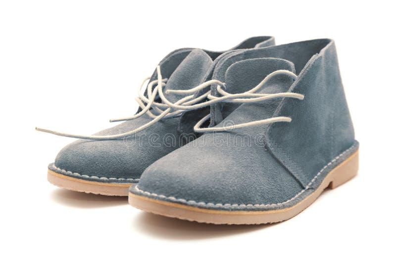 Nuevos zapatos del ante fotografía de archivo libre de regalías