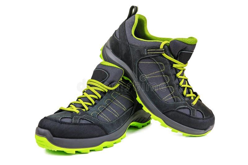 Nuevos zapatos que caminan en blanco foto de archivo libre de regalías