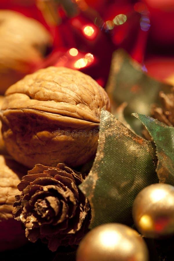Nuez de la Navidad fotos de archivo