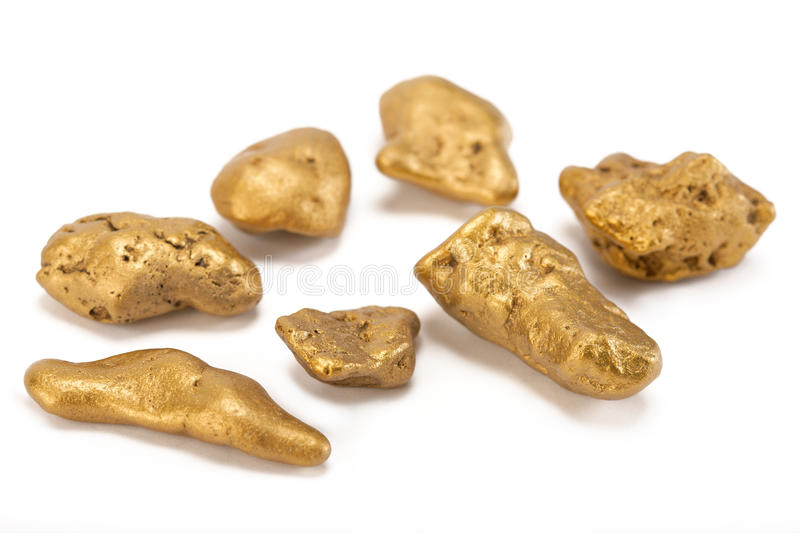 Nuggets of gold royalty free stock photo