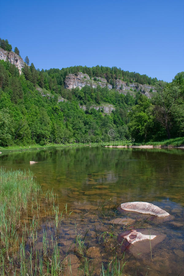 Nugush river royalty free stock photos