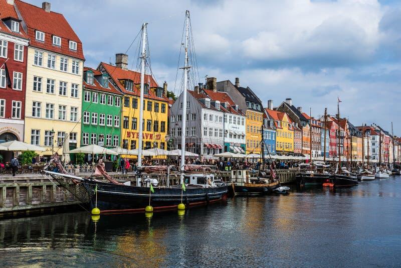 Nuhavn港口在哥本哈根 免版税库存照片