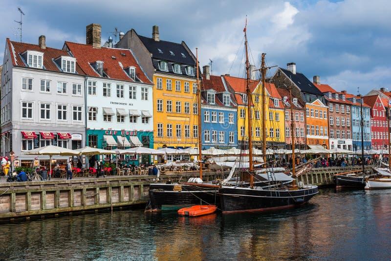 Nuhavn港口在哥本哈根 图库摄影