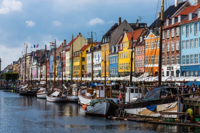 Nuhavn港口在哥本哈根 库存照片