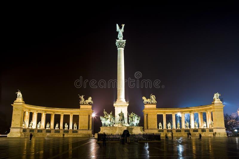 Nuit à Budapest photographie stock