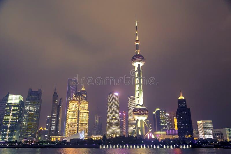 Nuit à Changhaï image libre de droits