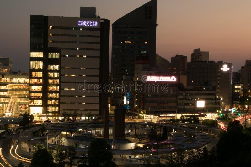 Nuit à Hamamatsu photos stock