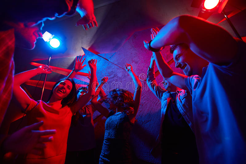 Nuit à la disco photographie stock