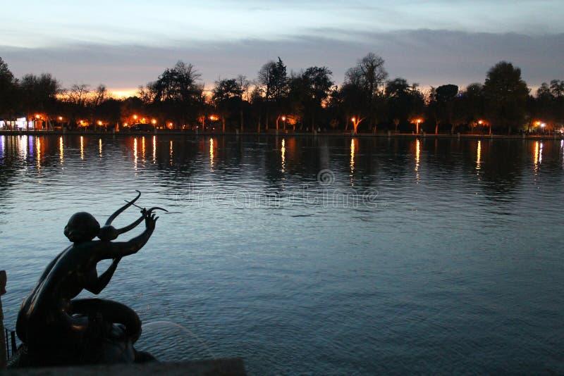 Nuit à Madrid images stock