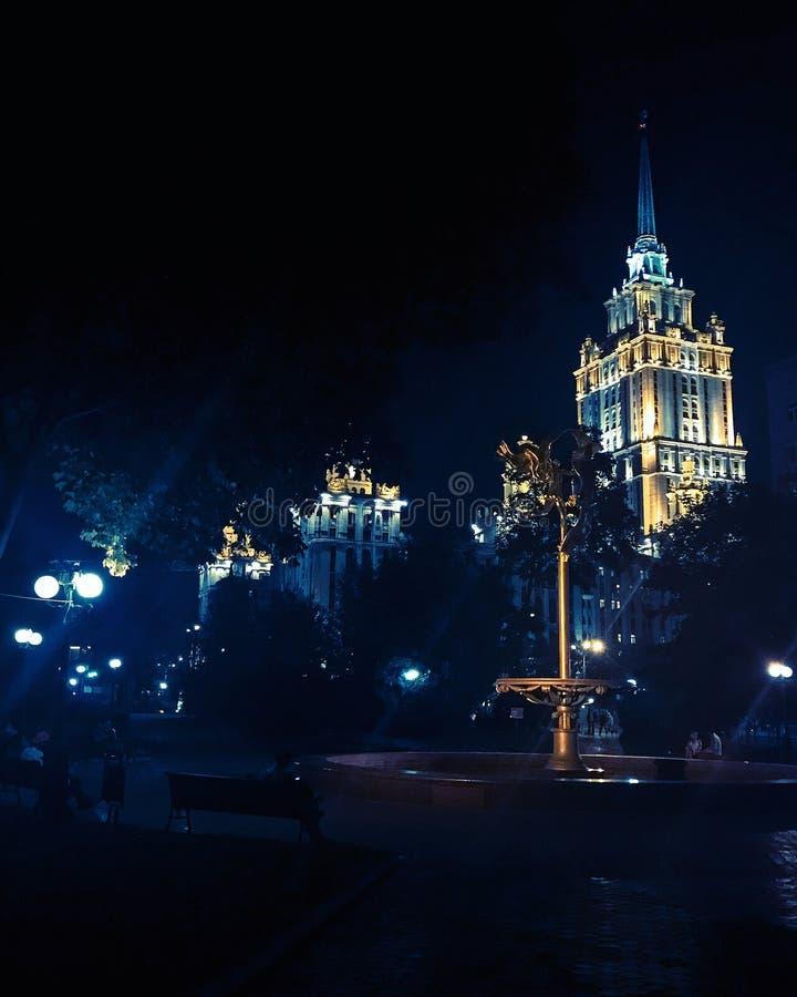 Nuit à Moscou image libre de droits
