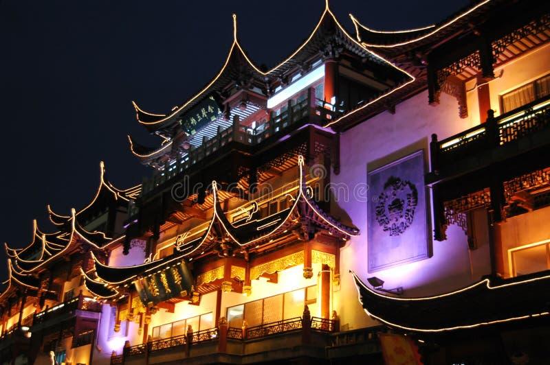 Nuit à vieux Changhaï images libres de droits