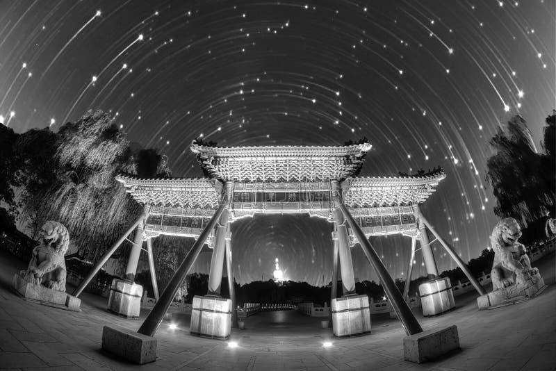Nuit étonnante en Chine images stock