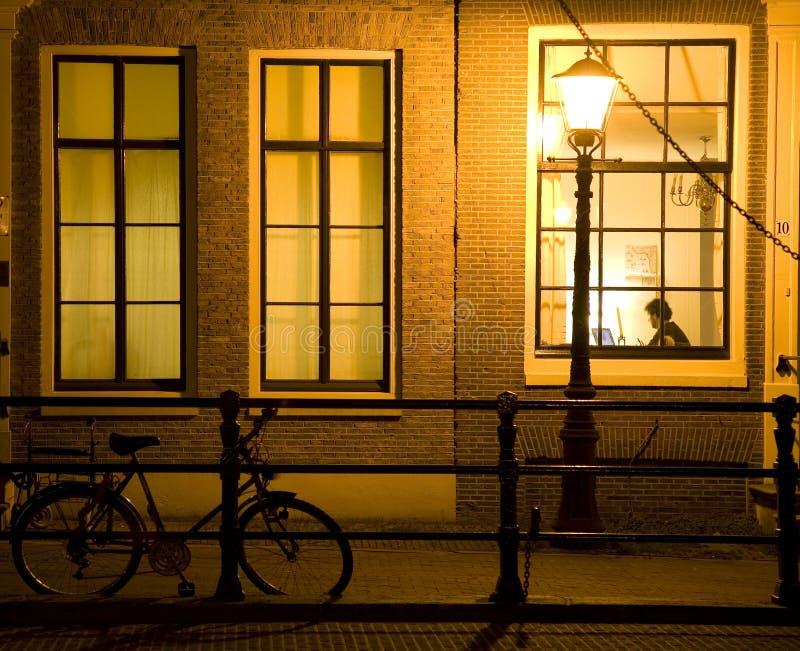 Nuit 12 d'Amsterdam photo libre de droits