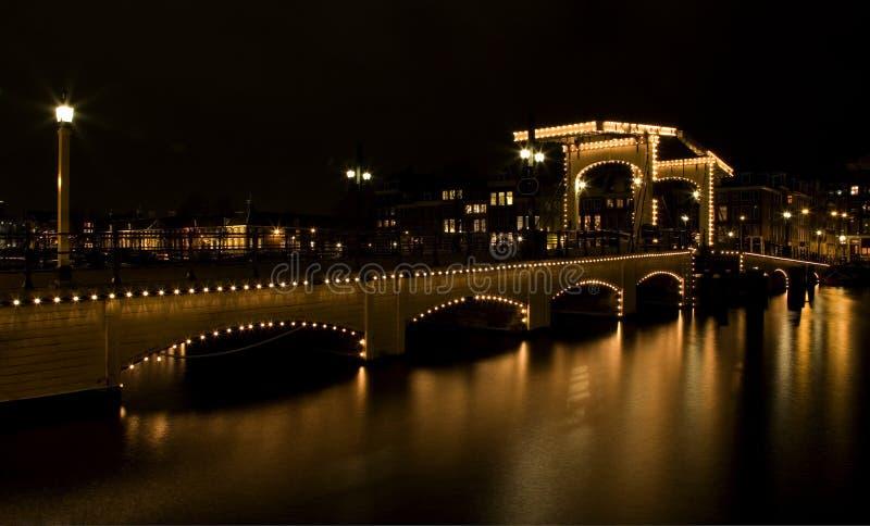 Nuit 2 d'Amsterdam images libres de droits