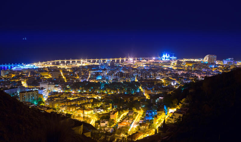 Nuit aérienne Santa Cruz de Tenerife Canary Islands photo stock