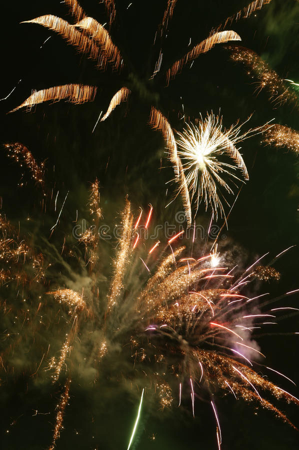 Nuit Angleterre de feu image libre de droits