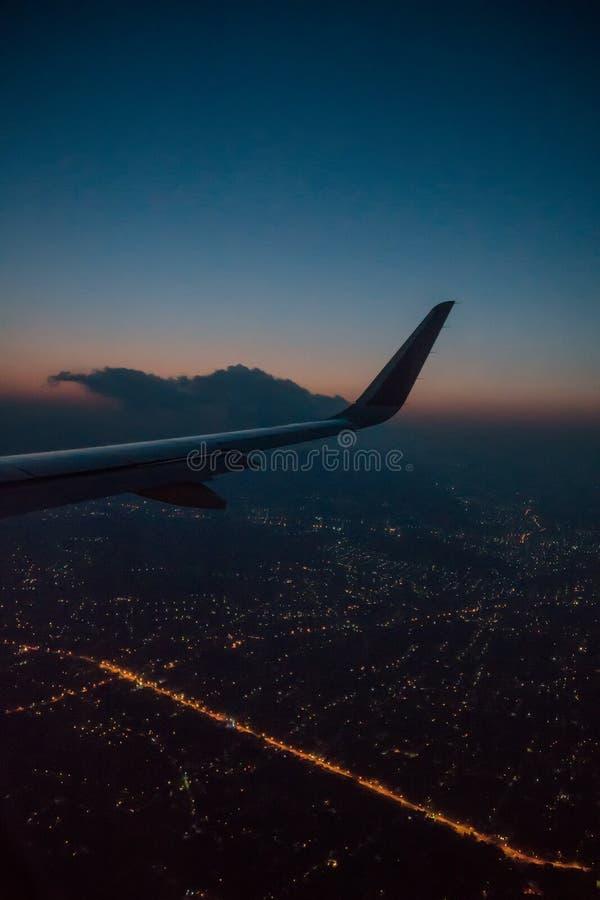 Nuit Athènes image libre de droits