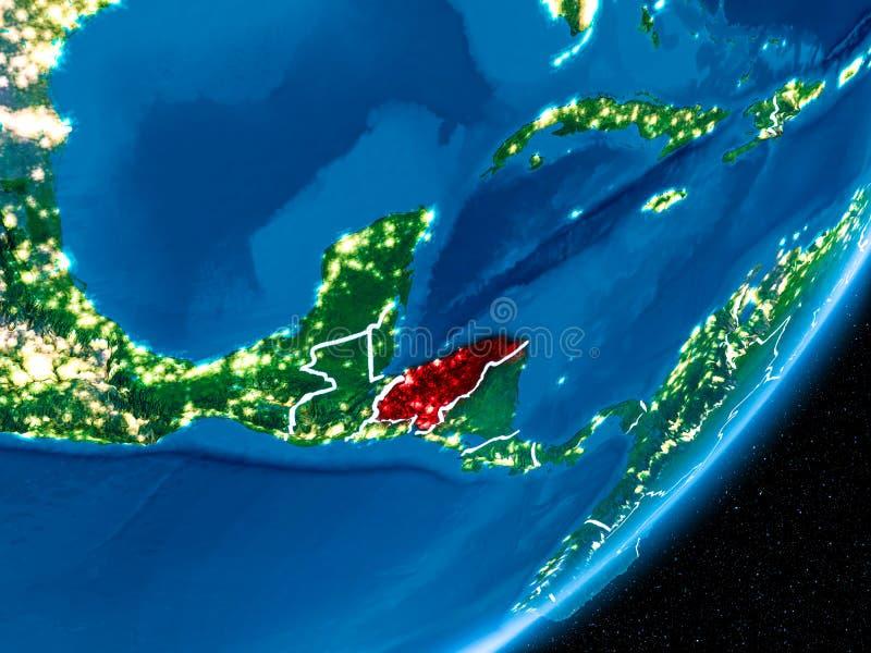 Nuit au-dessus du Honduras illustration libre de droits